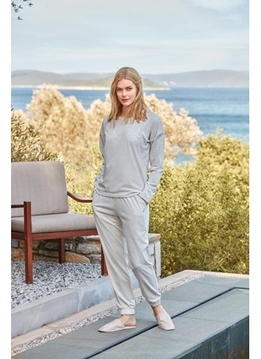 Nautica Ntw010 Pijama Takım Bej